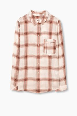 Checked blouse, 100% cotton