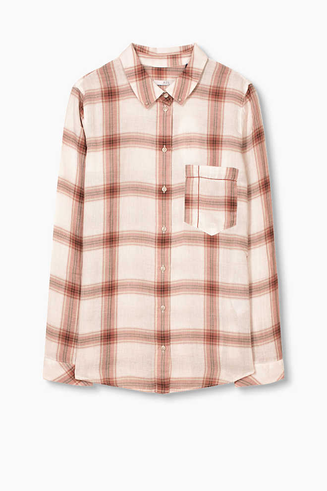 EDC / Checked blouse, 100% cotton