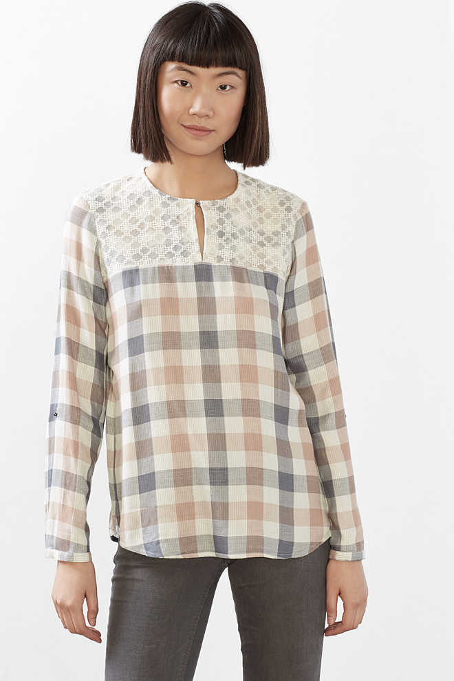 EDC / Double face blouse met mesh