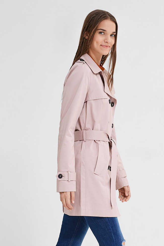 EDC / Trench coat in 100% cotton