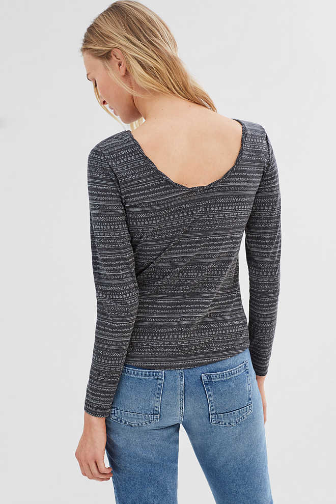 EDC / Long sleeve top with back cut-out