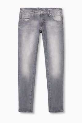 Grey five-pocket stretch jeans