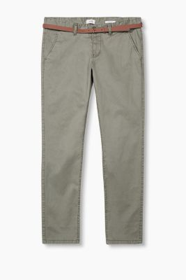 Chino ceinturé en coton stretch