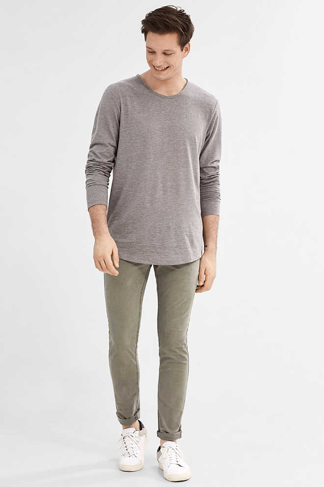 EDC / Twill chinos in garment-washed look