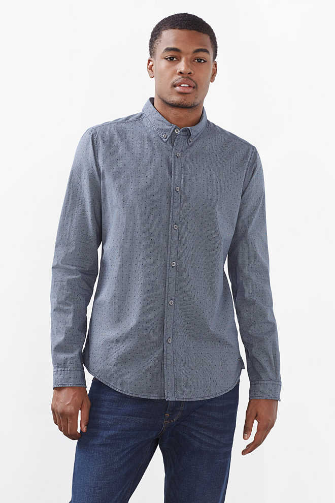 EDC / Patterned shirt in 100% cotton