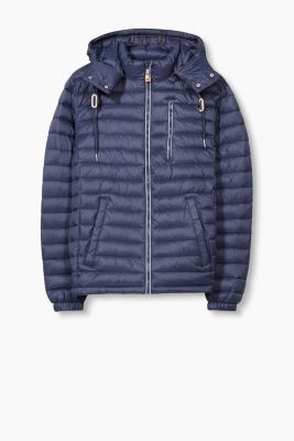 Quilted jacket with a zip-off hood