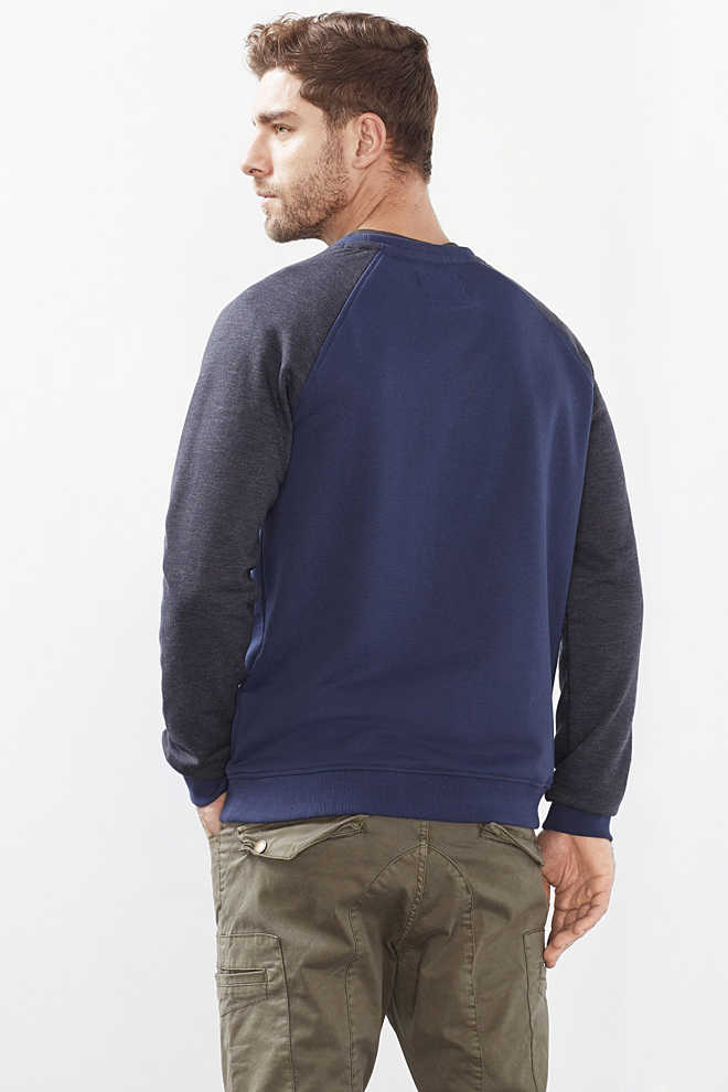 EDC / Sweat-shirt bicolore, coton mélangé