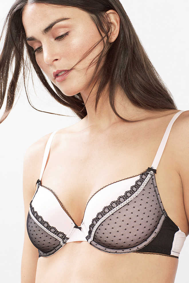EDC / Padded underwire bra with tulle lace