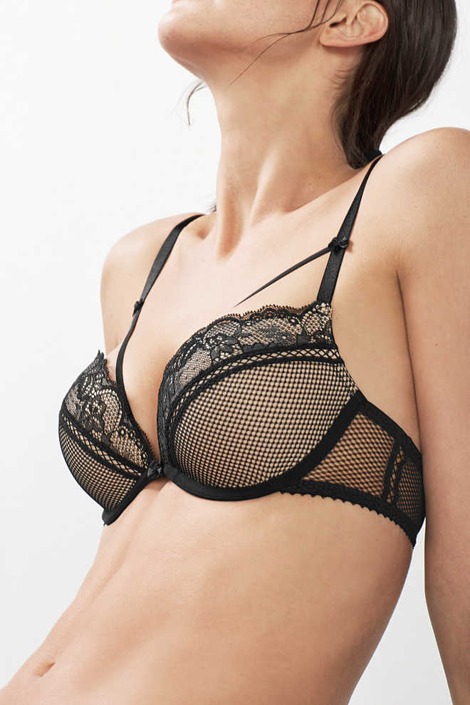 EDC / Material mix push-up bra