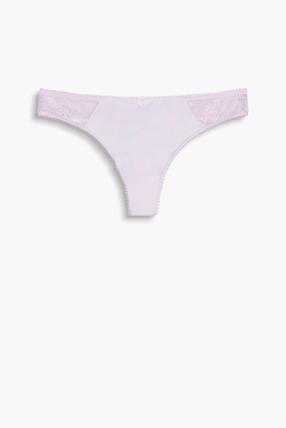 Collection: OBUNNY - hipster thong made of delicate lace with a detachable pompom