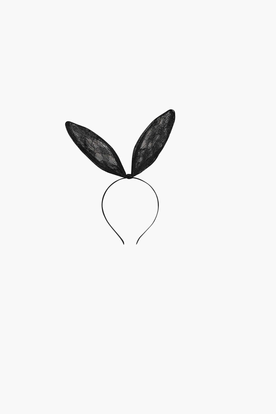 Collection: OBUNNY - narrow hairband with bendable bunny ears made of lace