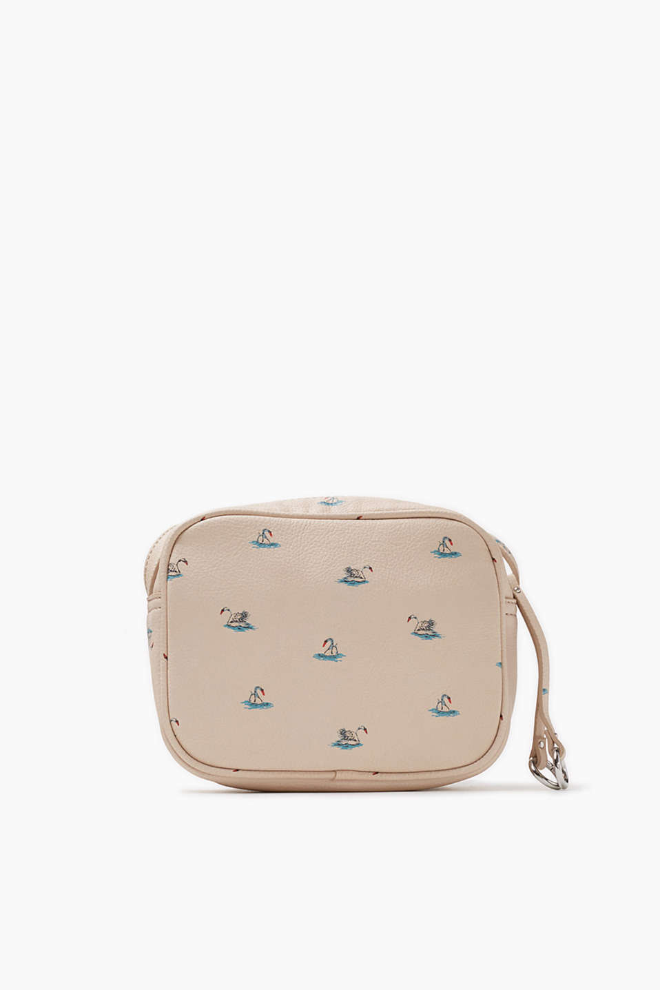 Plain coloured or with a swan print Stunning imitation leather shoulder bag (approx. 19 x 15 x 7 cm)