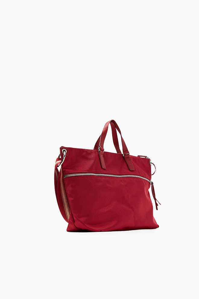 Esprit / Tote bag with striped shoulder strap