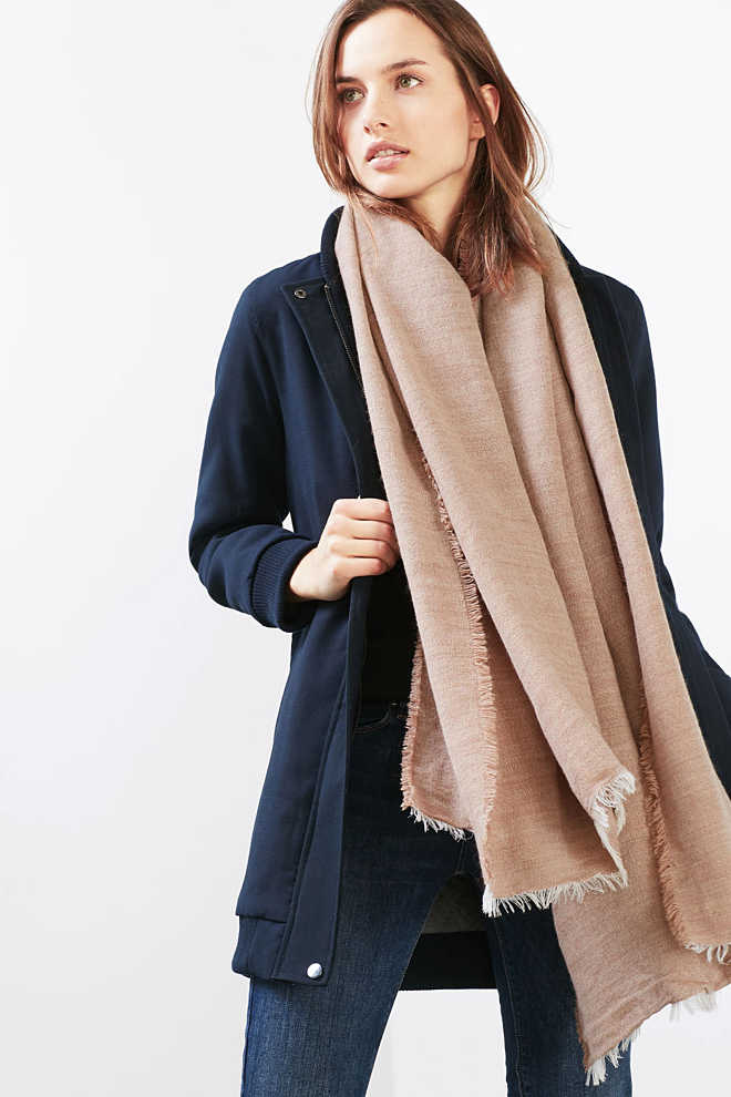 Esprit / Made in Italy: woven scarf with alpaca