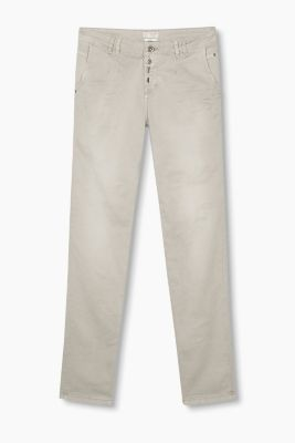 Garment-washed stretch cotton chinos