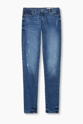 Stretch jeans in a vintage finish with zips
