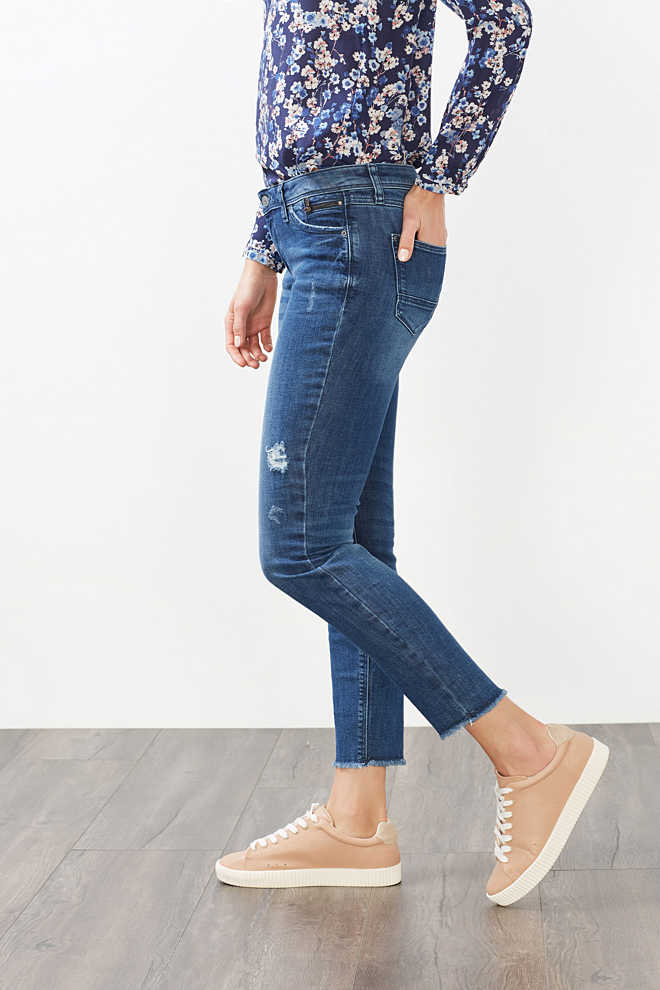 Esprit / Stretchjeans met used look