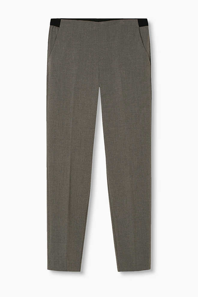 Esprit / Stretchy trousers in slim cigarette style