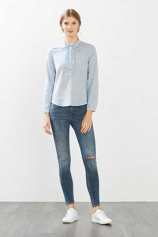 Esprit / Stretch-Denim im Used-Look