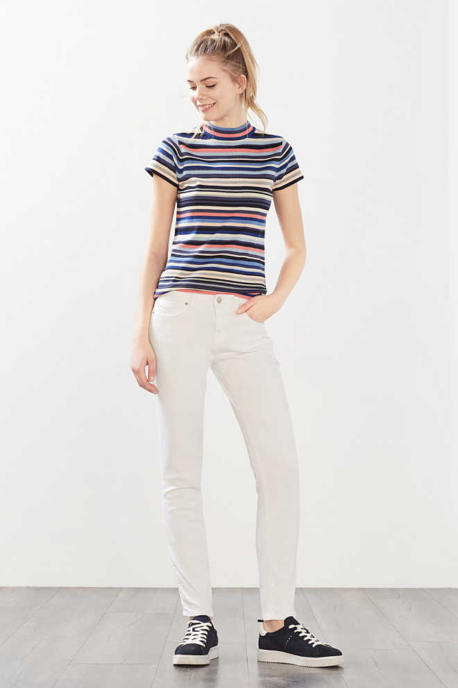 Esprit / White stretch jeans in 5-pocket style