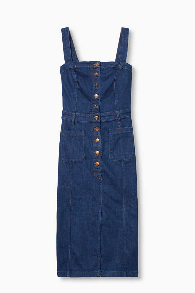Esprit / Corsagen-Kleid aus Stretch-Denim
