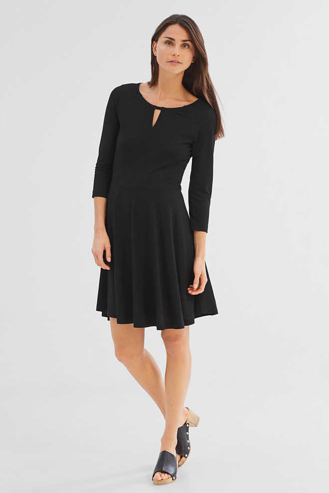 Esprit / Flowing jersey dress in a glittery look