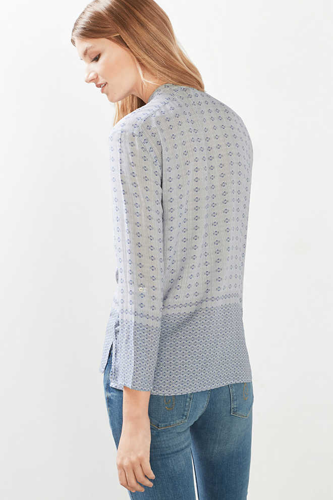Esprit / Pattern mix delicate flowing blouse