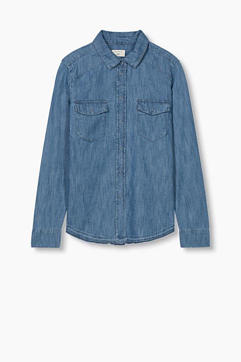 Blusa vaquera ligera en 100% algodón