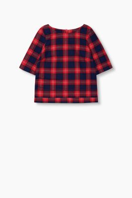 Boxy-Bluse aus Flanell, 100% Baumwolle