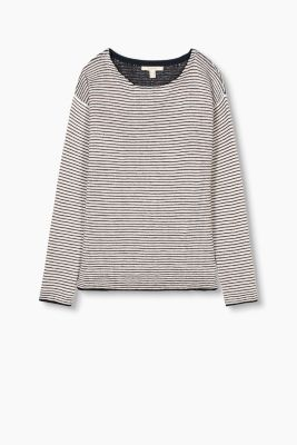 Densely knitted jumper, blended cotton