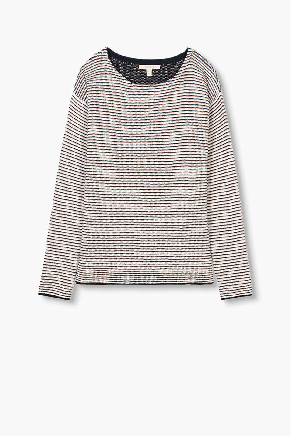 with textured and lurex stripes