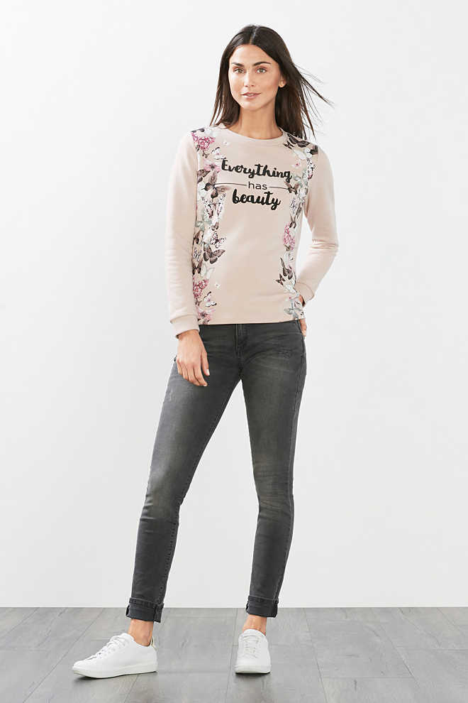 Esprit / Cotton blend print sweatshirt