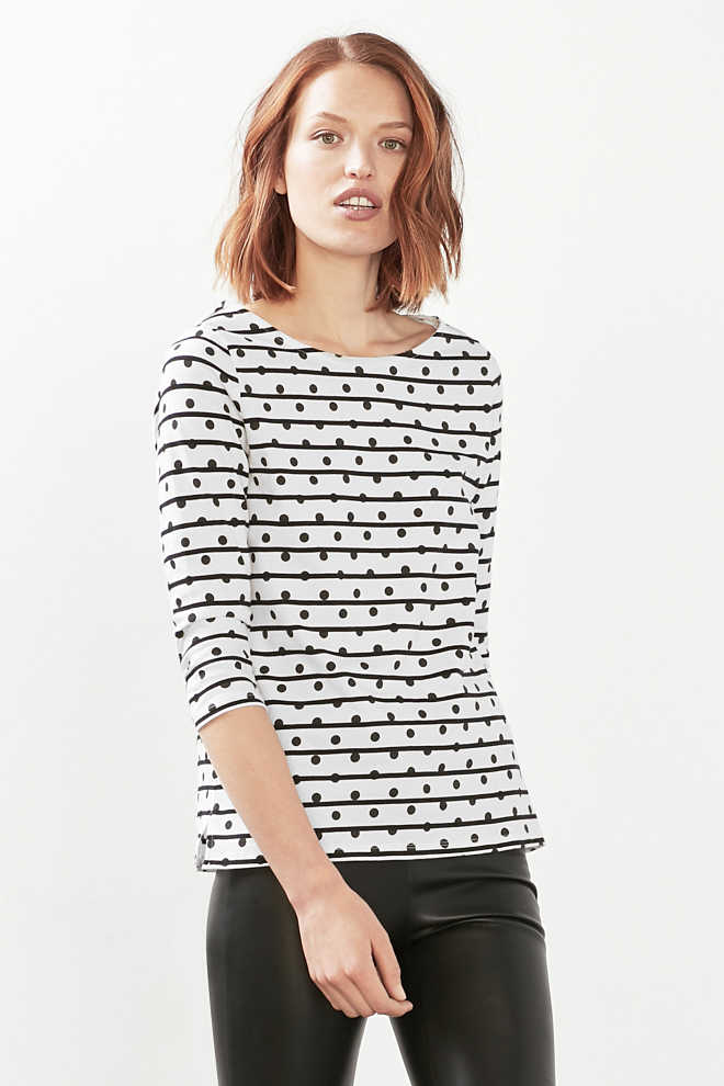 Esprit / Print top in 100% cotton