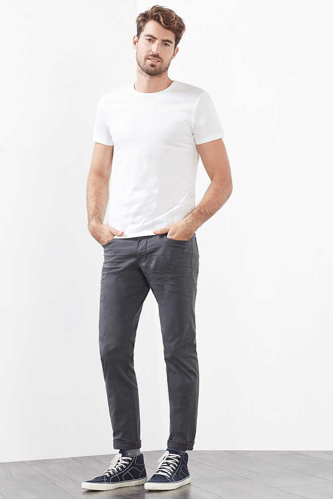 Esprit / 5-Pocket-Hose aus Baumwoll-Stretch