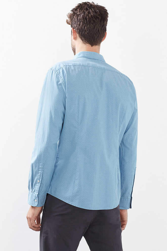 Esprit / Shirt with all-over print, cotton