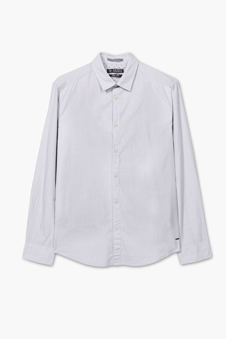 Soft cotton shirt with a garment washed effect