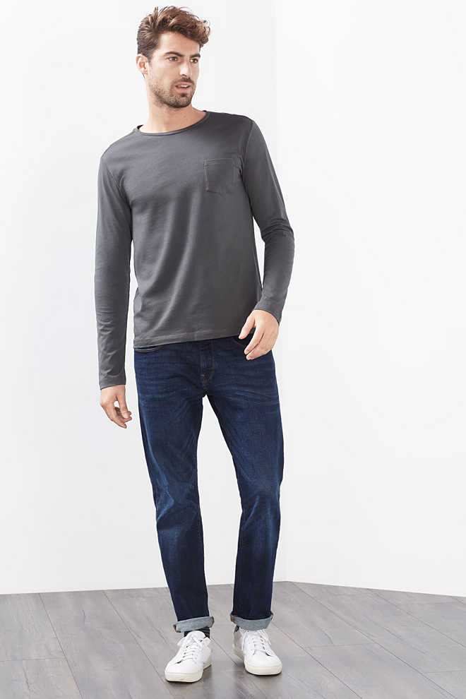 Esprit / Jersey long sleeve top in 100% cotton