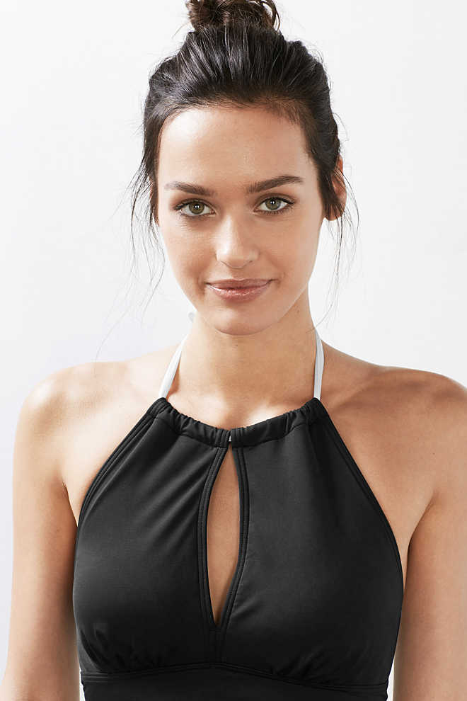 Esprit / Padded tankini top with a halterneck
