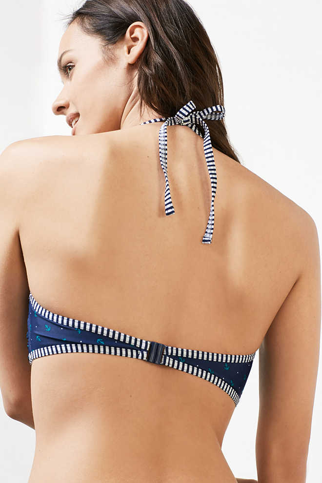 Esprit / Mixed pattern padded bandeau top