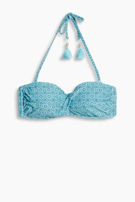 Ornament print padded bandeau top
