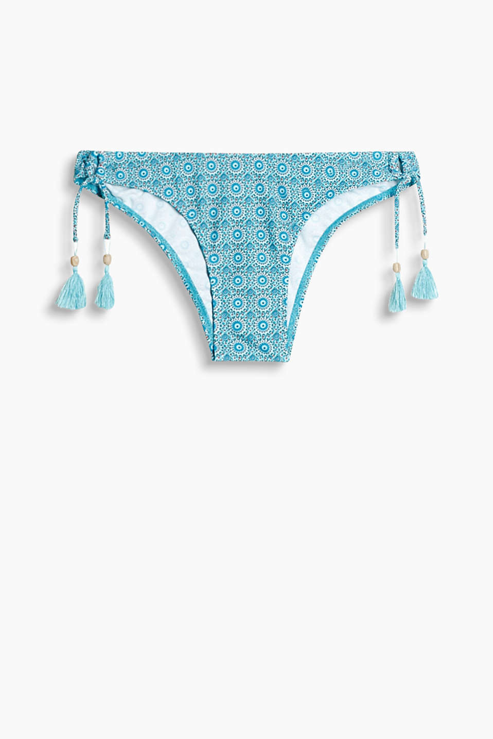 Collection: AUGUSTINE BEACH - skimpy bikini bottoms with an ornament pattern and tassels