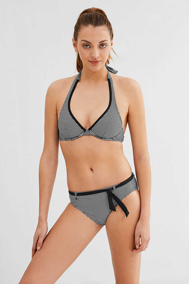 Esprit / Unpadded underwire top with polka dots