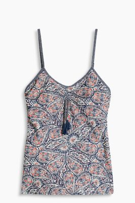 Long unpadded top with a paisley print