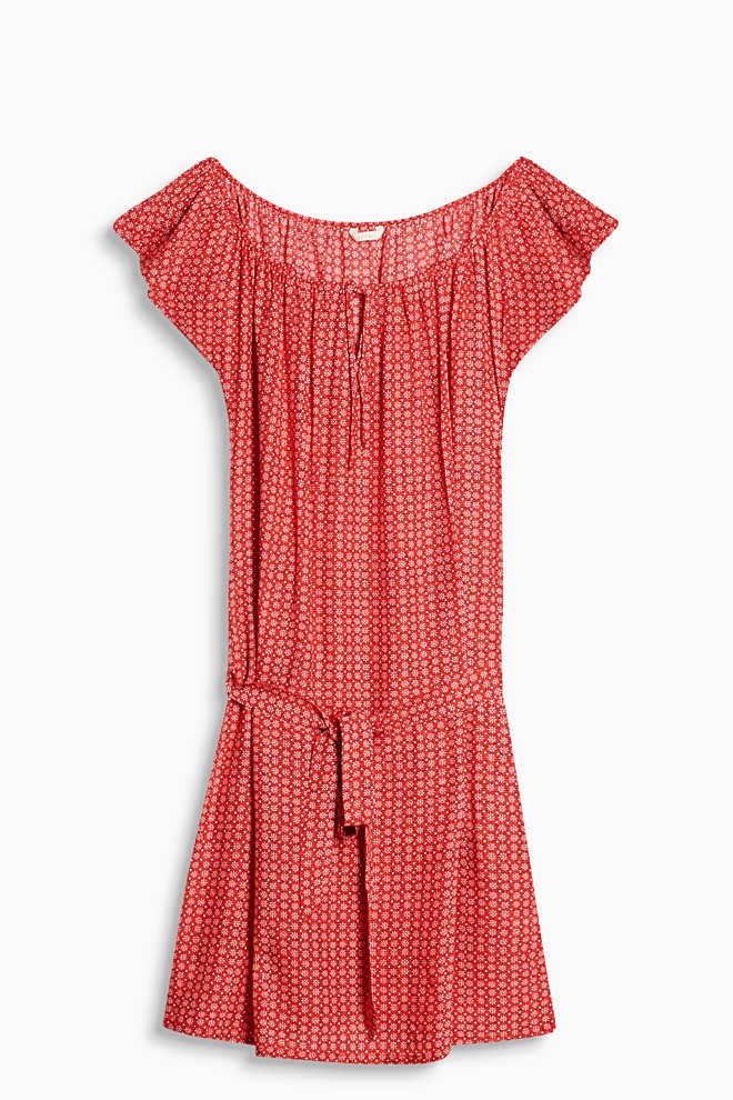 Esprit / Flowing beach dress with all-over print
