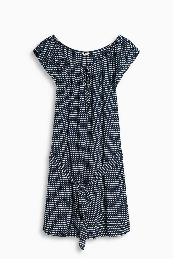 Esprit / Floaty beach dress with a zigzag print