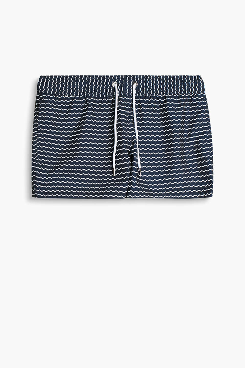 Collection: ESTERO BEACH - woven shorts with a zigzag pattern
