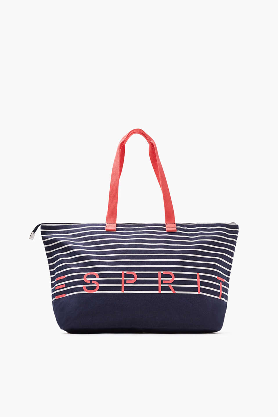 Collection: MINESOTA - beach bag with zip in cotton canvas