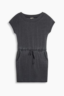 Soft jersey dress with a burnt-out look