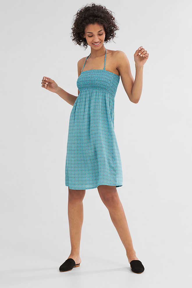 Esprit / Flowing bandeau dress with a print
