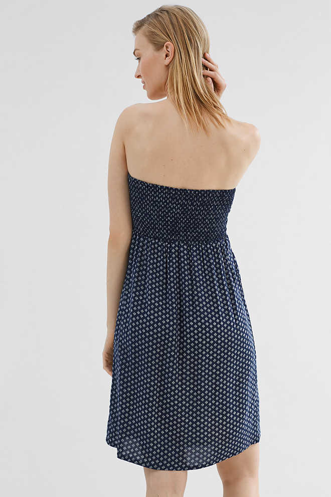 Esprit / Bandeau dress in lightweight fabric